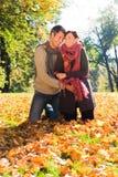 Pares de la caída del otoño Imagen de archivo