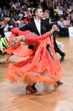 Pares de la danza de salón de baile Fotografía de archivo libre de regalías