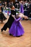 Pares de la danza de salón de baile Fotografía de archivo