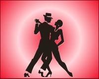 Pares de la danza del tango Foto de archivo libre de regalías