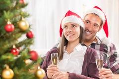 Pares de la feliz Navidad Imagen de archivo