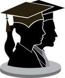 Pares de la graduación stock de ilustración