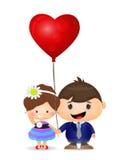 Pares de la historieta en amor Imagen de archivo libre de regalías