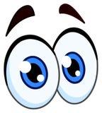 Pares de la historieta de ojos Foto de archivo libre de regalías
