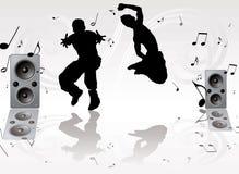 Pares de la música de danza Foto de archivo libre de regalías