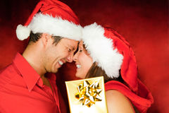 Pares de la Navidad Fotos de archivo libres de regalías