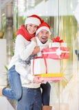 Pares de la Navidad Fotografía de archivo libre de regalías