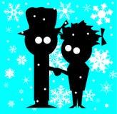 Pares de la Navidad Imagen de archivo libre de regalías