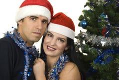 Pares de la Navidad Imágenes de archivo libres de regalías