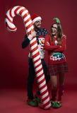 Pares de la Navidad Foto de archivo libre de regalías