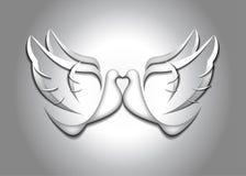 Pares de la paloma en forma del corazón Imágenes de archivo libres de regalías
