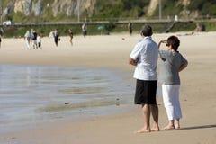 Pares de la playa Foto de archivo
