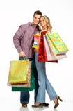 Pares de las compras Imagen de archivo libre de regalías