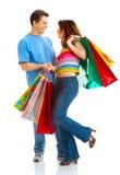 Pares de las compras Imagenes de archivo