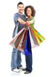 Pares de las compras foto de archivo libre de regalías