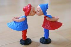 Pares de las marionetas de la tarjeta del día de San Valentín Fotografía de archivo libre de regalías