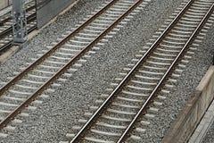 Pares de las pistas ferroviarias Imagen de archivo