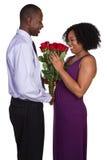 Pares de las tarjetas del día de San Valentín fotografía de archivo libre de regalías