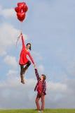 Pares de las tarjetas del día de San Valentín Imagen de archivo libre de regalías