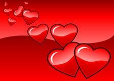 Pares de las tarjetas del día de San Valentín Imagen de archivo