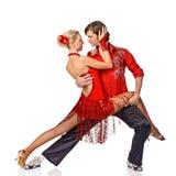 Pares de levantamento dos dançarinos do latino fotos de stock