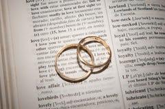 Pares de los anillos de bodas del oro Foto de archivo libre de regalías
