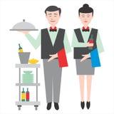 Pares de los camareros imagen de archivo libre de regalías