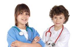 Pares de los doctores futuros Foto de archivo