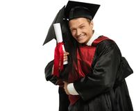 Pares de los estudiantes graduados imágenes de archivo libres de regalías