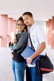 Pares de los estudiantes universitarios Imagen de archivo