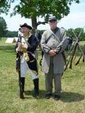 Pares de los soldados confederados Fotos de archivo