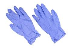 Pares de luvas médicas azuis do látex Imagens de Stock Royalty Free