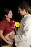 Pares de maternidade Fotografia de Stock