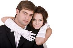 Pares de menina e de homem. Amor. Imagens de Stock Royalty Free