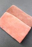 Pares de micro toalha de cara da fibra Fotos de Stock Royalty Free
