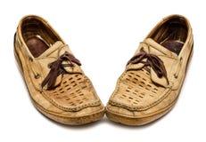 Pares de mocasines viejos Foto de archivo libre de regalías