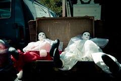 Pares de muñecas viejas Foto de archivo