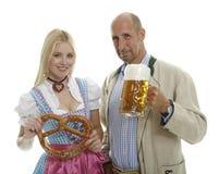 Pares de Oktoberfest Imagen de archivo libre de regalías