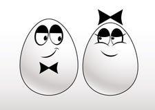 Pares de ovos Imagens de Stock