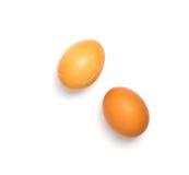 Pares de ovos no fundo branco imagem de stock royalty free