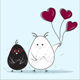 Pares de pássaros, San Valentine Card Foto de Stock Royalty Free