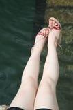 Pares de pés Fotografia de Stock