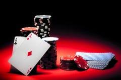 Pares de póker de los as Imagen de archivo