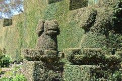pares de perros del Topiary foto de archivo libre de regalías