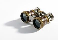 Pares de prismáticos del vintage Imagen de archivo libre de regalías