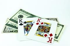 Pares de reis e de dólares Fotos de Stock