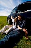 Pares de relaxamento Imagem de Stock Royalty Free