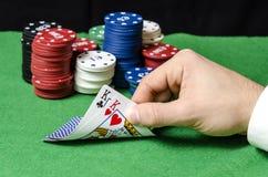 Pares de reyes en póker Imagen de archivo