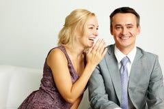 Pares de risa Imagen de archivo libre de regalías