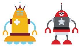 Pares de robôs Fotografia de Stock Royalty Free